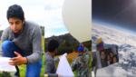 Faber Burgos logró récord Guinness por video de experimento con globo meteorológico