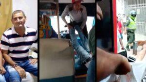 Cobrador de bus fue asesinado en medio de un atraco